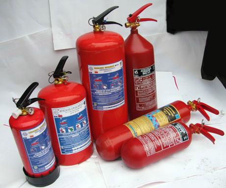 Вогнегасники в асортименті